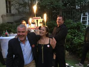 Frédérique Aribaud et Jean-Paul Tréguer pour les 20 ans de Senioragency
